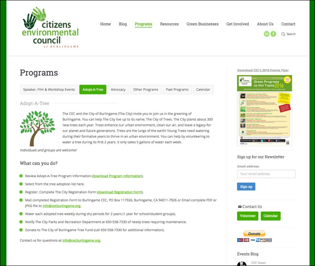 Citizens Environmental Council Programs