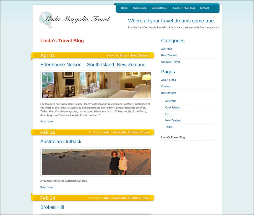 LInda Margolin Travel Blog
