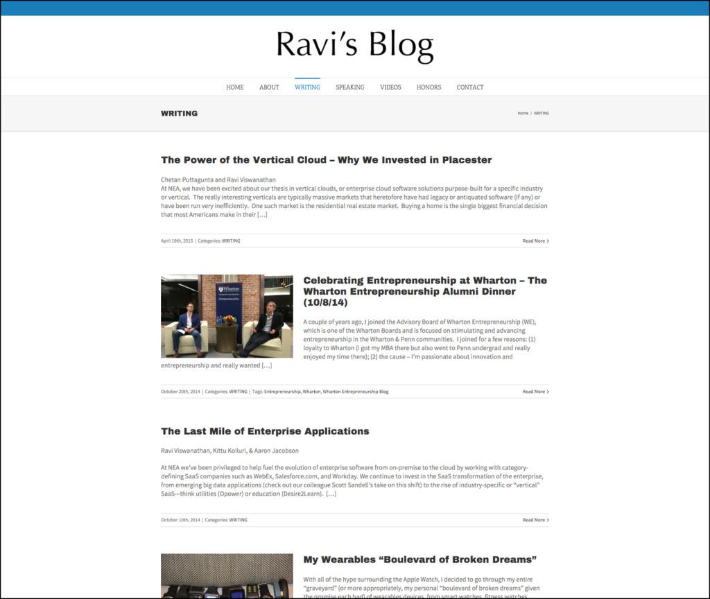 Ravi Viswanathan's Blog